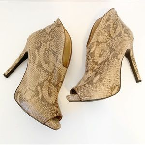 Jessica Simpson Abbear Snakeskin Stiletto Bootie